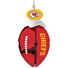 Kansas City Chiefs Football Bell Ornament