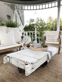 A beautiful porch always holds eyes on people. And the farmhouse style porch seems to be very enjoyable right now. A farmhouse porch just begs for a deep swing, piled with pillows and a… Continue Reading → Farmhouse Front Porches, Small Front Porches, Front Porch Design, Rustic Farmhouse, Farmhouse Style, Farmhouse Design, Farmhouse Ideas, Patio Design, Porch Gazebo