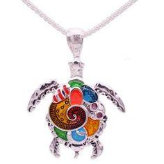 Emaille Schildkröte High Fashion Halskette.