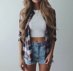 61 Most Cute School Fall Outfits For Teen Girls Trending Right Now 61 Most Cute School Fall Outfits For Teen Girls Trending R. Fall Outfits For Teen Girls, Summer Outfits For Teens, Cute Outfits For School, Summer Fashion Outfits, Teen Fashion, Stylish Outfits, Hipster Crop Tops, Looks Teen, Stylish Clothes
