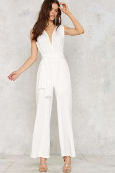 All Time Low Halter Jumpsuit - White | Shop Clothes at Nasty Gal!