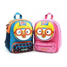3de54e809797 Winghouse - Pororo Face Safety Harness Backpack (Blue) 귀여운 가방