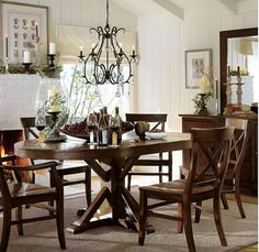 Modern with a more traditional look ... and other dining room design ideas.