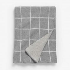 Grid Gray Toddler Blanket