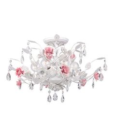 Antique White Lola Semi Flush Mount Ceiling Light by Crystorama on #zulily