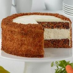 Carrot Cake Cheesecake...... Our Original New York cheesecake is layered with a traditional carrot cake, made with fresh carrots and cinnamon. Frosted with Juniors own cream cheese frosting.