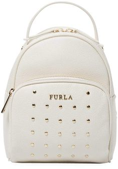 ebf6057cc1c1 Furla Women's Studded Frida Mini Backpack White Leather Backpack, Mini  Backpack, Backpack Bags,