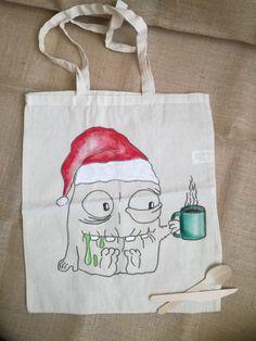 Christmas Bags, Reusable Tote Bags
