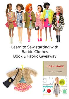 Book Giveaway:  Great book for learning to sew doll clothes! Visit my blog for the book and fabric giveaway. Phoebe&Egg