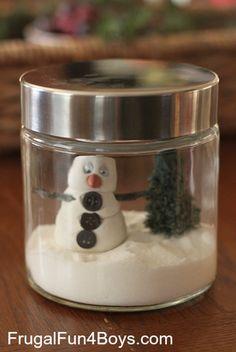 Snowman Jars - So sweet!
