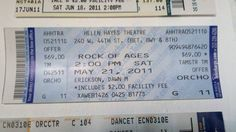 @rockofages ticket from last year.  I'm learning Pinterest just to post this.  That's how bad #Iwannarock! \m/ \m/ #hereIgoagain