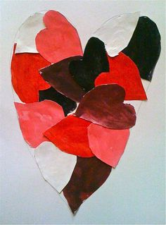 Hearts with Jim Dine What Are Cool Colors, Warm And Cool Colors, Jim Dine, Heart Collage, Value In Art, Valentines Art, Chalk Pastels, Winter Art, Art Lesson Plans