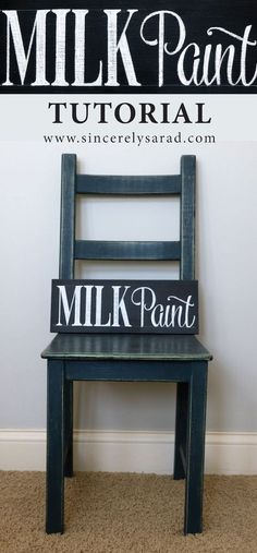 This DIY milk paint tutorial is full of great tips and photos! (And it's part of a painting furniture tutorial series which features 4 other types of paint.)