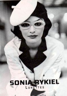 Helena Christensen in Sonia Rykiel vintage ad