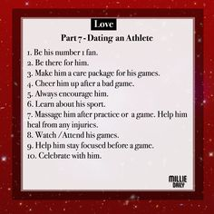 Dating an athlete quotes