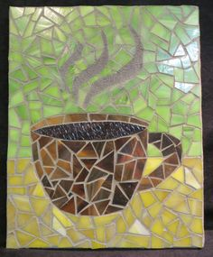 Mosaic Coffee Cup by AimESmith on Etsy, $30.00