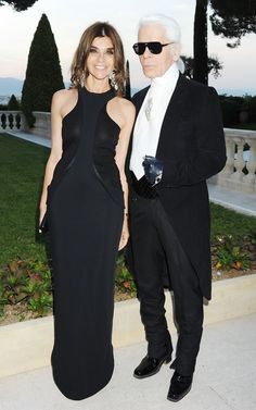 Carine Roitfeld et Karl Lagerfeld #magnifique