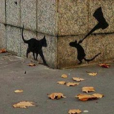 Street art, rise up mice!