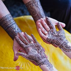 Cute anniversary henna for the bride and groom! Love it when men get henna.