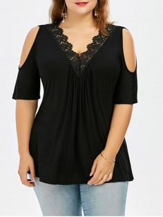 GET $50 NOW | Join RoseGal: Get YOUR $50 NOW!http://m.rosegal.com/plus-size-blouses/plus-size-lace-trim-cold-1128651.html?seid=u5uj3lv39hv57m0cbu50il0eh7rg1128651