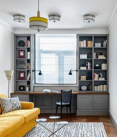 A modern color is crucial to visual communication and modern interior design Guest Room Office, Home Office Space, Home Office Design, House Design, Design Design, Home Interior, Modern Interior Design, Modern Interiors, Minimalist Room