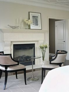 Beige chairs with black edging   Sarah Richardson - Master bedroom retreat project4.jpg