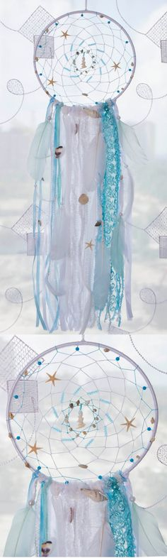 Sea Blue Dream Catcher Boho Dreamcatchers by MagicalSweetDreams