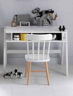 Bureau ' Maternelle' Architekt Mini BLANC+TURQUOISE - vertbaudet enfant
