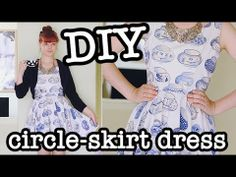 My new youtube video on how to make this dress is up!  DIY Circle Skirt Dress (aka Skater Dress) ^_^
