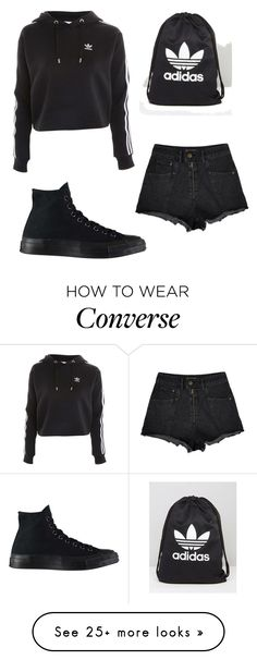 """""""Untitled #244"""" by swinxrose on Polyvore featuring Topshop, Converse and adidas"""
