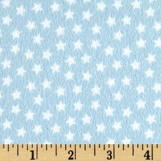 Riley Blake Lucky Star Flannel Star Blue from @fabricdotcom  Designed by Zoe Pearn for Riley Blake, this single-napped (brushed on one side only) flannel is perfect for quilting, apparel and home decor accents. Colors include blue and white.