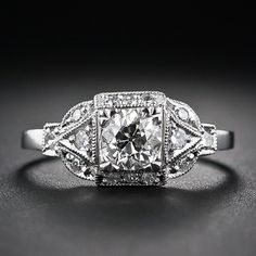 This is the most awesome Vintage Jewelery Store in San Francisco. This is a .60 Carat Art Deco Style Diamond Engagement Ring
