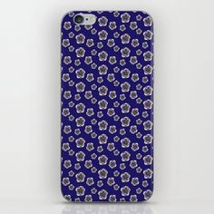 Blue boho print iPhone skin Iphone Skins, Flower Patterns, Blue Flowers, Phone Cases, Boho, Lifestyle, Yellow, Products, Doodle Flowers