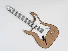 Guitarra Infantil de Papelão | Espaço Infantil