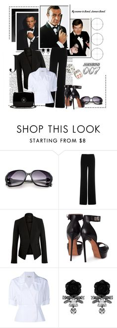 """My Three Favourite Bonds"" by leanne-mcclean ❤ liked on Polyvore featuring Retrò, James Bond 007, Spy Optic, Diane Von Furstenberg, Theory, Givenchy, Fendi, Darya London and Chanel"