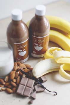 smoothie lait d'amandes, banane, cacao