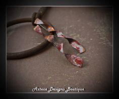 Artifacts~ Copper Silver Enamel Earrings by AztecaDesignsBoutique, $39.00 USD