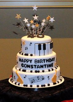 pinterest music party ideas | Found on cakeswithattitude.ca