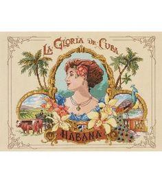 Janlynn Counted Cross Stitch Kit Cigar Box Art Cuba Nancy Rossi Usa x
