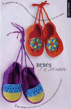 adorable crocheted shoes, charted pattern......Uncinetto d'oro: Scarpette per bimbi!