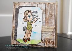 JoAnn Valderama using Bug Catcher Tobie (#digi). www.someoddgirl.com #summer #cards #digitalstamps
