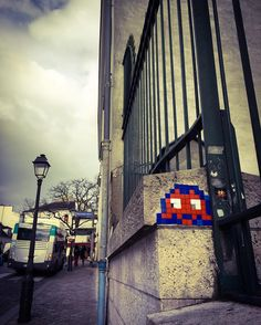 Invader in Montmartre Paris | A CHAO DESIGN travels