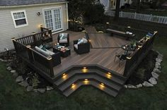 Ideas to transform your backyard into an outdoor living space. From decks to porches to patios, discover design tools, design ideas, a project calculator & more. Synthetic Decking, Design Exterior, Exterior Colors, Backyard Patio Designs, Cozy Backyard, Backyard Decks, Patio Ideas, Pergola Ideas, Backyard Landscaping