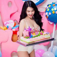 zBikini - Watching Beautiful Bikini Girls: Bikini fascination with Ngọc Trinh Free Happy Birthday Cards, Lace Lingerie Set, Pretty Little, Bikini Girls, Fascinator, Birthday Cake, Bikinis, Beautiful, Erotic