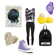 """""""Untitled #14"""" by xneonmoonx on Polyvore featuring Splendid, Eos, Moschino, Rip Curl, Miss Selfridge and Converse"""