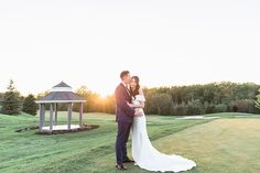 We just love a good golf course⛳️ wedding - and Yvonne and Kevin's big day is no exception! Trust us, you are going to fall hard for this rustically romantic wedding captured by EC3 Moments.  Venue: Whistle Bear Golf Club   Wedding Dress: David's Bridal   Décor & Florals: Flowers on Bay   Hair & Makeup: Bene Beauty Bridal Decorations, Best Golf Courses, Real Couples, Davids Bridal, Formal Dresses, Wedding Dresses, Wedding Pictures, Big Day, Golf Clubs
