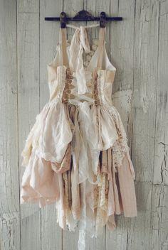 ruffled skirt, lace, corset back