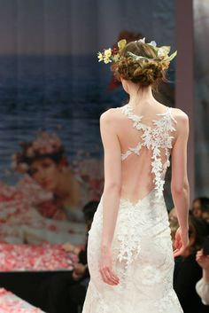 Open Back Wedding Dresses That Make Our Jaws Drop  ---  Claire Pettibone wedding dress. Backless wedding gown low back bride bridal perfect open back statement wedding dress