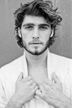 mens mid length wavy hair - Google Search