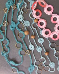 PATTERNS - Summery Crochet Jewelry plus bonus patterns. $7.00, via Etsy.